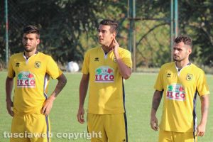Sport - Calcio - Viterbese - Da sinistra: Baldassin, Sorbo e Tortori