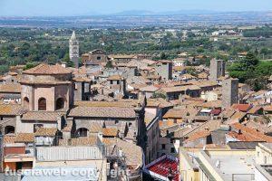 Viterbo - Il centro storico dall'alto dall'alto