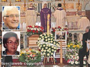 Vetralla - I funerali Luciano Di Gregorio e Luigina Graziani