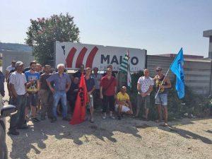 Orte - I lavoratori della Maico in protesta