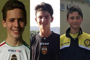Sport - Calcio - Calcio Tuscia - Alessandro Pompei, Leonardo Fimiani e Francesco Mecarini