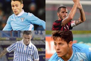 Sport - Calcio - Nei riquadri: Lombardi, Bonucci, Viviani e Rossi