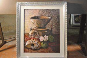 Tarquinia - Uno dei quadri della mostra