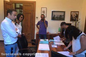 Viterbo - Elezioni provinciali - Pd, la consegna della lista