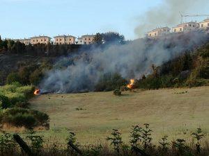 Incendio a Campagnano Romano