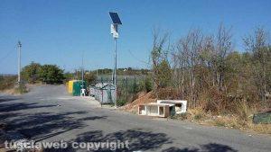 Viterbo - Località Sasso San Pellegrino - Rifiuti oltre le telecamere