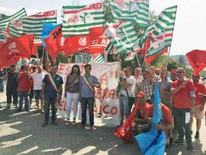 La protesta dei lavoratori Maico
