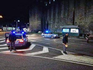 Viterbo - Polizia a piazzale Gramsci