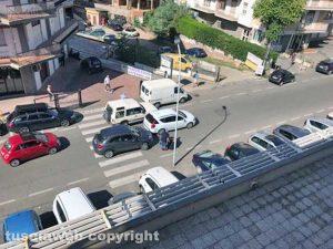 Viterbo - Tamponamento in via Garbini