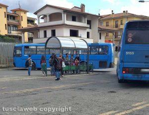 La fermata Cotral a Montefiascone