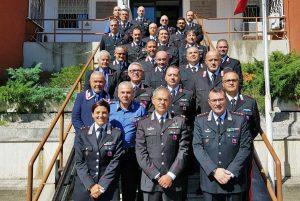 Il generale di brigata Andrea Rispoli al comando di compagnia carabinieri di Civita Castellana
