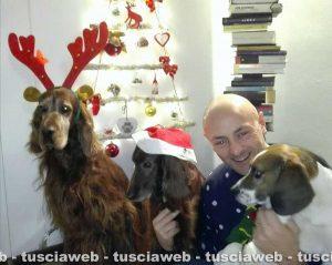 Egidio Locatelli con i suoi cani