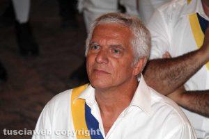 Trasporto macchina di Santa Rosa - Il presidente del Sodalizio Massimo Mecarini