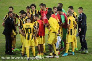 Sport - Calcio – Viterbese - Valerio Bertotto e la squadra al termine del match