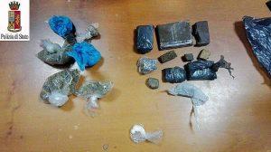 Viterbo - Ai domiciliari con hashish, marijuana ed eroina - La droga sequestrata dalla polizia