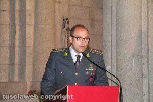 IL comandante della guardia di finanza di Viterbo Giosuè Colella