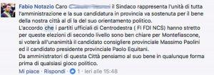 Elezioni provinciali - Il post di Fabio Notazio