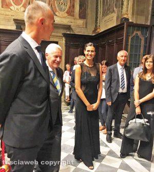 Viterbo - Santa Rosa - Alice Sabatini con Raffaele Ascenzi e Leonardo Michelini