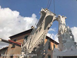 Viterbo - Santa Rosa 2017 - Lo smontaggio di Gloria