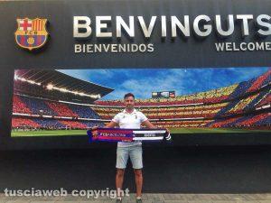 Barcellona - Luigi Ragonesi (Juventus club Viterbo) al Camp Nou