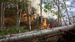 L'incendio alla Caldara