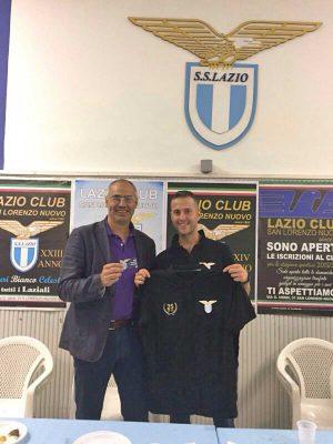 San Lorenzo Nuovo - Il sindaco Massimo bambini al Lazio club