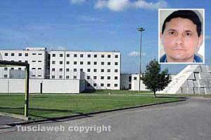 Viterbo - Il carcere di Mammagialla - Nel riquadro: Salvatore Madonia