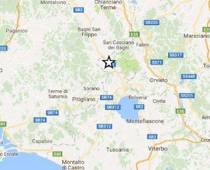 Terremoto - Lieve di scossa a Proceno