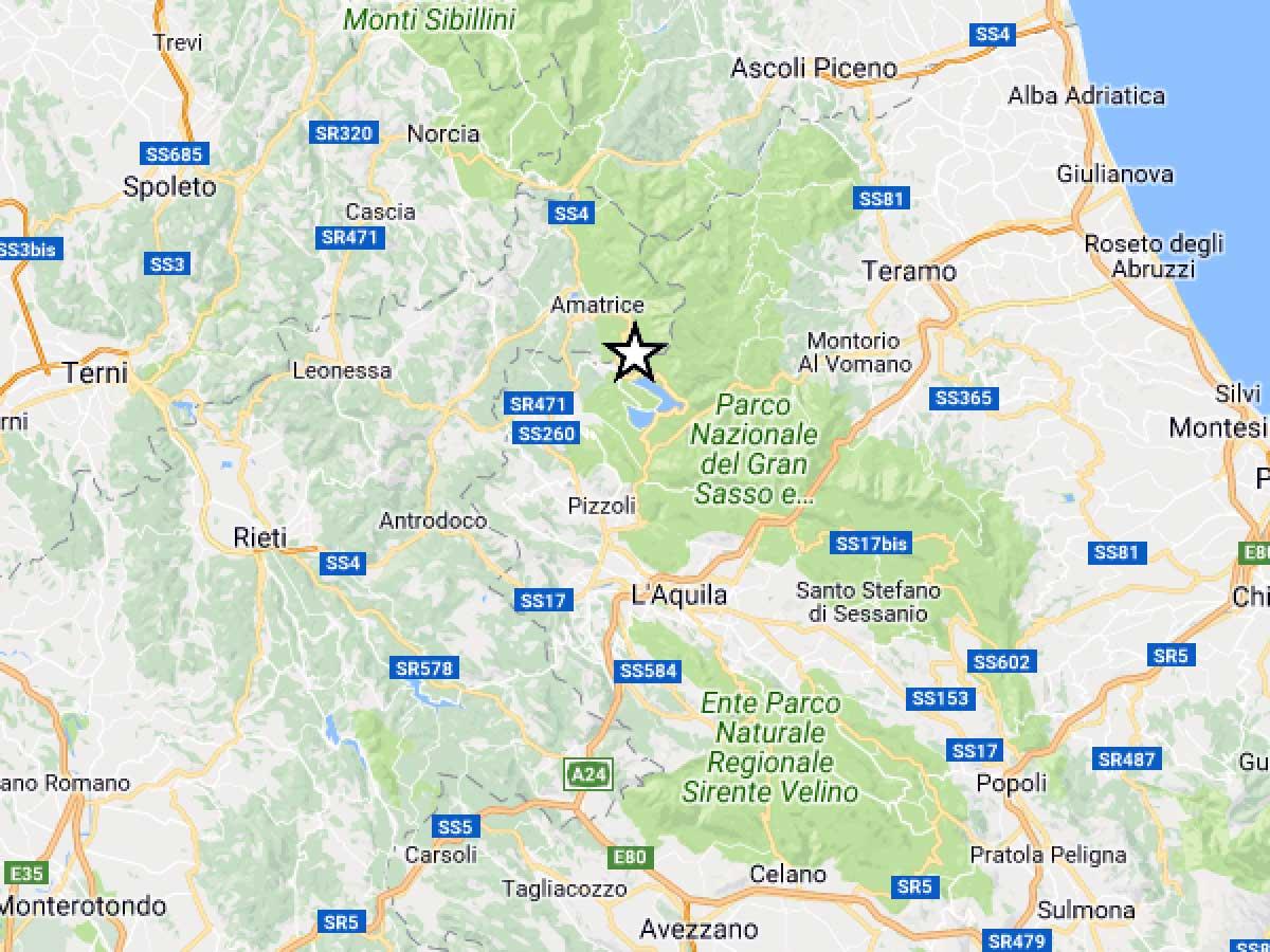 Terremoto, scossa di 3.7 a Campotosto (AQ)