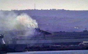 Civitavecchia - I fumi molesti dalla nave greca