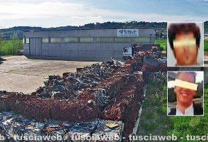 Operazione End of Waste sui rifiuti tossici - La Tmr - Nei riquadri: Roberto Mattaroccia e Nicolò Cioci