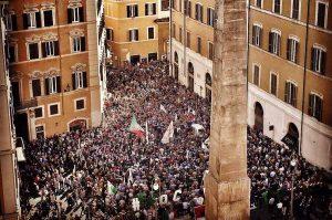 Roma - Legge elettorale - La manifestazione del Movimento 5 stelle