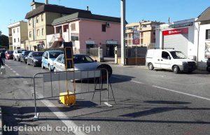 Viterbo - I lavori sulla Teverina