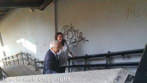 Bagnaia - Murales al passaggio pedonale - La consegna dei lavori