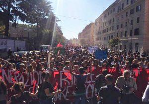 Roma - La manifestazione degli studenti