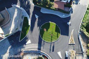 Viterbo - La rotonda di via Genova