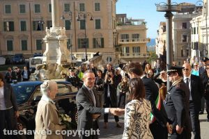 Tarquinia - L'arrivo della regina Margherita II