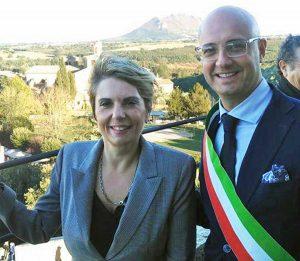 Civita Castellana - Gabrielli e Angelelli sulla terrazza del Forte Sangallo