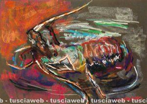 Aragosta 1995 - Una delle opere di Rudolf Kortokraks rubate a Tuscania