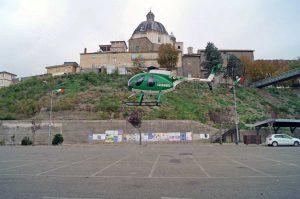 Montefiascone - L'elicottero dei carabinieri