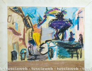 Fontana del duomo 1985 - - Una delle opere di Rudolf Kortokraks rubate a Tuscania