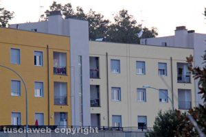 Le case popolari a Bagnaia - Serpentone