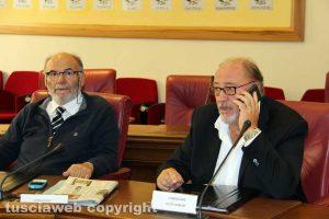 Viterbo - Consiglio provinciale - Carlo Postiglioni e Aldo Fabbrini