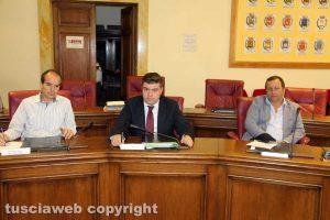 Viterbo - Consiglio provinciale - Elpidio Micci, Alessandro Romoli, Gianluca Grancini