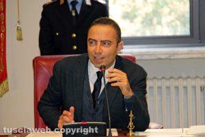 Viterbo - L'insediamento del nuovo consiglio provinciale - Il presidente Pietro Nocchi