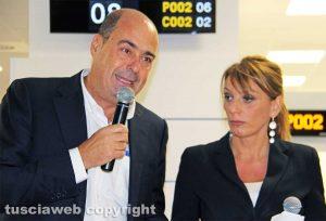 Nicola Zingaretti e Daniela Donetti