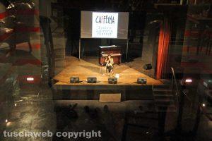 Chiara Gamberale sul palco vista dalla quella che era la galleria del teatro