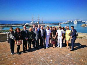 Civitavecchia - La delegazione del tribunale di Laval in visita al porto di Traiano