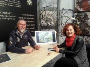 "Luigia Melaragni con Marco Bracci, ""Esclusivi Ferri Forgiati"""