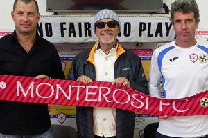 Sport - Calcio - Monterosi - Da sinistra: Daniele Prosia, Luciano Capponi e Carlo Perrone